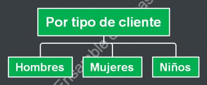 Departamentalización por tipo de cliente tipos de departamentalización