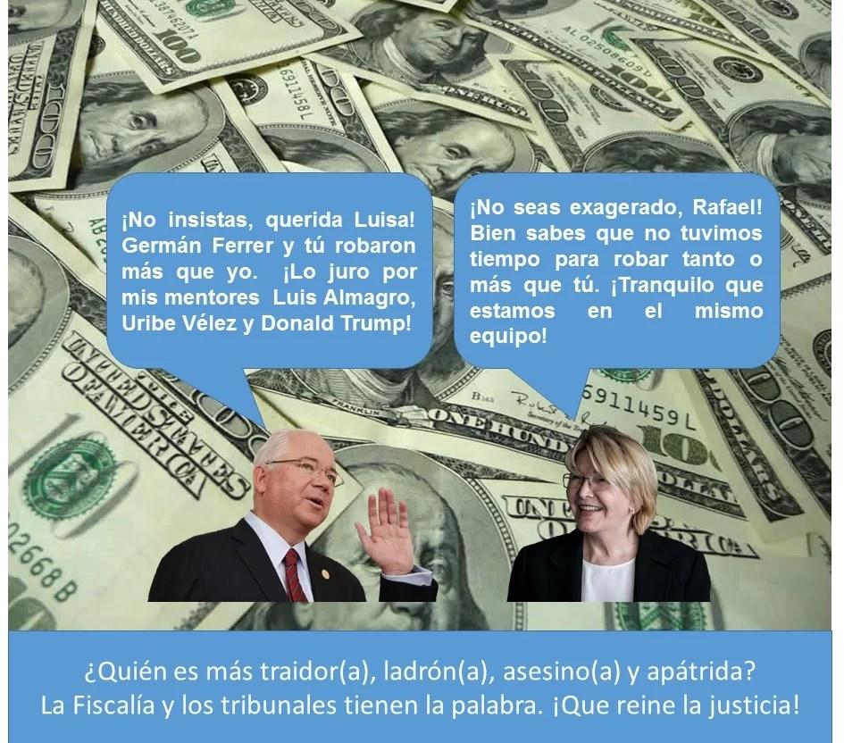 Quién será más ladrón, Rafael Ramírez o Luisa Ortega...