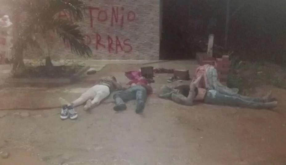 Ay Dios mio!, HORROR!:... los pendejos venezolanos que cogen para Colombia para que los maten como perros!!!
