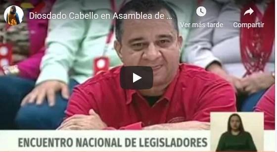 Diosdado Cabello en Asamblea de Legisladores, 28 noviembre 2019
