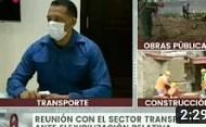 Así se desarrolla la reunión con el sector transporte ante flexibilización relativa (+Video)