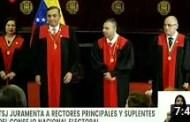 Tribunal Supremo de Justicia juramentó a rectores principales y suplentes del CNE (+Video)