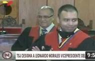 Leonardo Morales juramentado por el TSJ como nuevo rector principal y vicepresidente del CNE