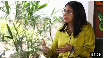 Delcy Rodríguez entrevistada en Aquí con Ernesto Villegas, 18 de octubre de 2020