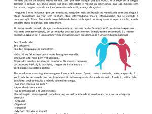 Atividade de interpretação de texto de português para estrangeiros com crônica de Luís Fernando Veríssimo e aspectos culturais brasileiros interessantes!