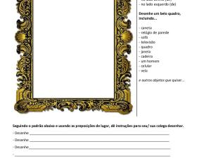 Atividade de português para estrangeiros em duplas. É focada em advérbios de lugar e locuções correspondentes, para imprimir.