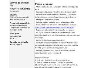 Nessa atividade auditiva de português para estrangeiros o estudante foca no vocabulário e expressões na música Anna Júlia da banda brasileira Los Hermanos.
