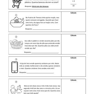 Essa atividade de matemática para estrangeiros desafia os estudantes de PLE a entender um vocabulário específico para então fazer o cálculo necessário.