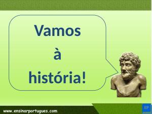 Material para ensinar português para estrangeiros online focado na leitura e interpretação de texto. Formato .ppt e com guia passo-a-passo.