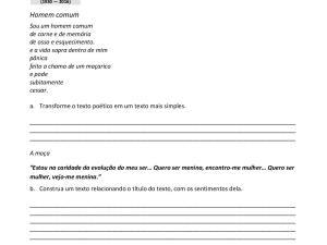 Atividade de ampliação de vocabulário em aulas de português para estrangeiros e de herança com a obra de Ferreira Gullar para nível avançado.