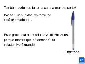 Folha de exercícios sobre aumentativo e diminutivo para aulas de português online. Contém arquivo Power Point e .pdf. Ideal para estudantes autodidatas.