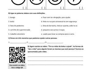 Atividade com vídeo para aulas de português para estrangeiros, níveis A2 e B1. focado em emoções, interpretação e produção escrita.