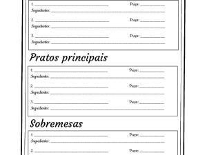 Sobre comida, parte de nosso acervo de atividades de português para estrangeiros para imprimir e complementar suas aulas.