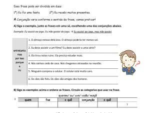 Exercícios de estruturação de frases em período composto para complementar suas aulas de português. Com explicações e gabarito!
