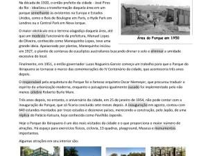 Atividade com texto para aulas de português para estrangeiros sobre a história e atrações do Parque do Ibirapuera, São Paulo, ideal para preparar aquele passeio com os estudantes!