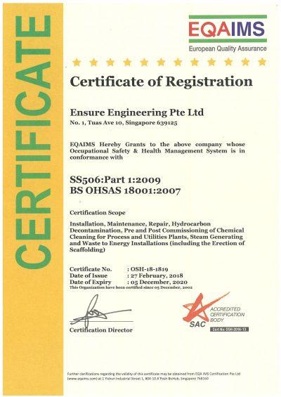 EQAIMS - SS506-PART 1 -2009 BS OHSAS-18001-2007 - (05-12-2020)