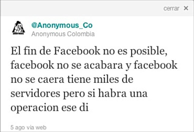 Plan de destruir Facebook sí existió. ¿División en Anonymous?