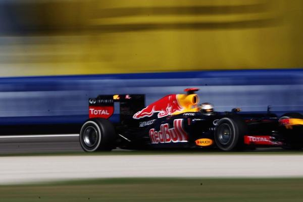 Vettel at the Ascari chicane