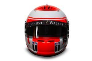 Jenson Button 2015 Crash Helmet - Front View