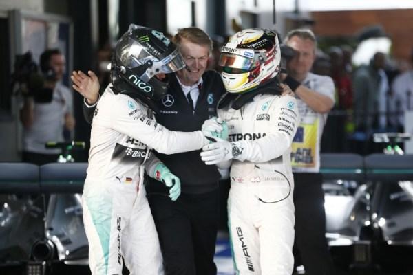 Nico Rosberg vs Lewis Hamilton 2015