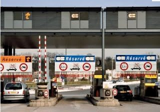Toll booth in France