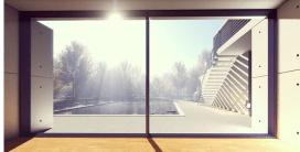 modern window,