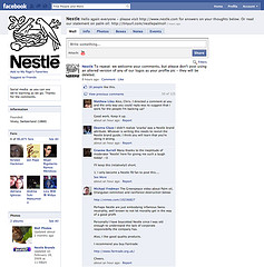 Nestlé censoring comment on FaceBook