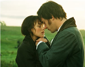 Knightley as Elizabeth and Macfadyen as Darcy
