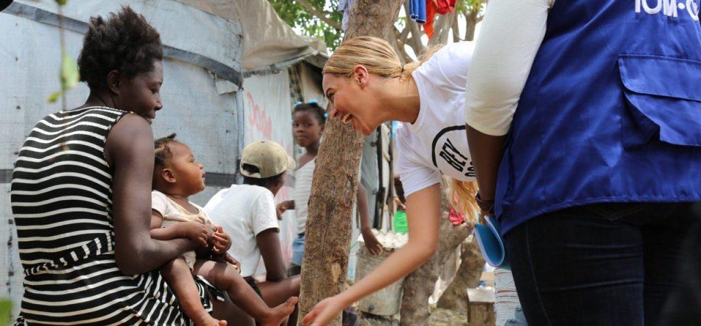 Beyoncé at St. Damien Pediatric Hospital in Haiti