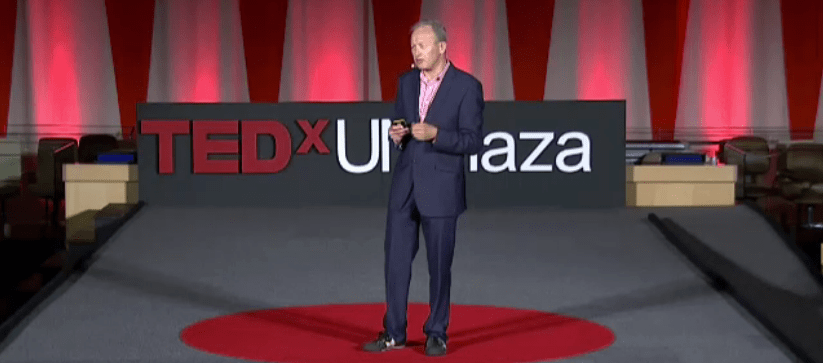 Paul Katz on stage at TedX UN Plaza