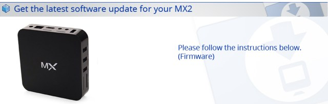 Latest MX2 Firmware Kodi Edition Download MX2 Firmware