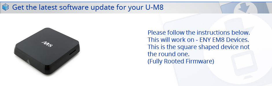 Latest U-M8 Firmware Download
