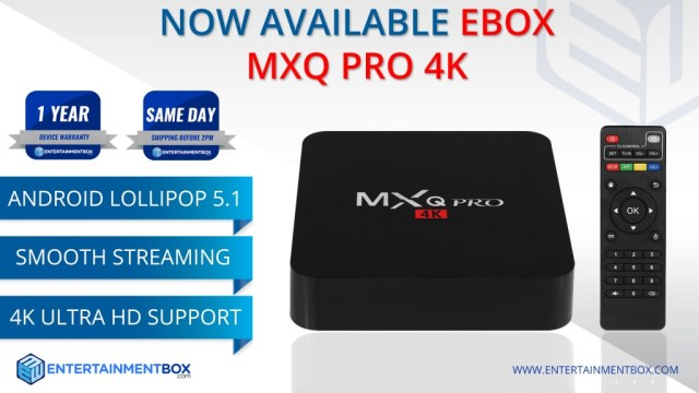 MXQ Pro 4K Smart TV Box