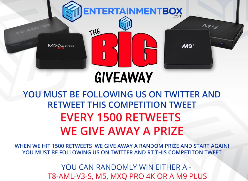 Big Giveaway on Twitter
