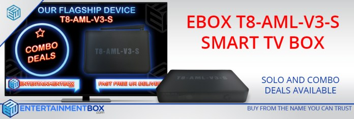 Ebox T8 TV Box Version 3s