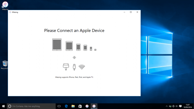 Connect Apple device
