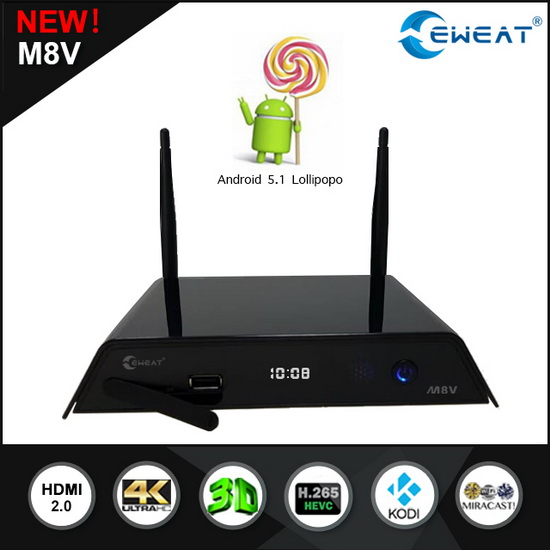 Latest Eweat M8V TV Box Firmware Download Android Lollipop 5.1.1