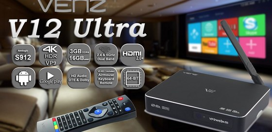 Latest Venz V12 Ultra TV Box Android Marshmallow 6.0 Firmware Download