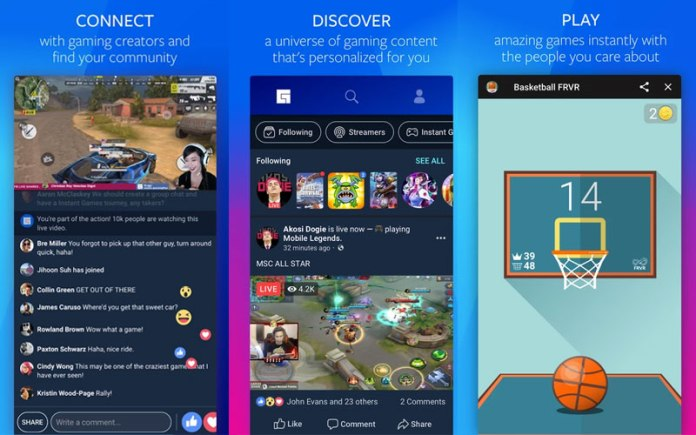 Facebook fb.gg Twitch gaming streaming Android
