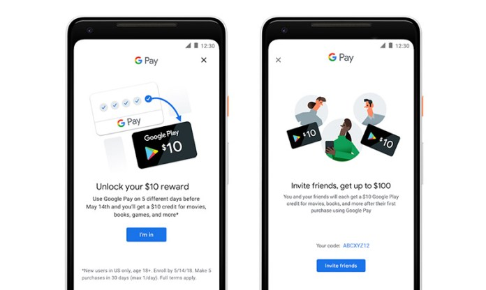 Google Pay Android iOS Apple