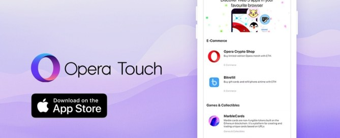 Opera Touch Receives Cryptocurrency Wallet Support on iPhone