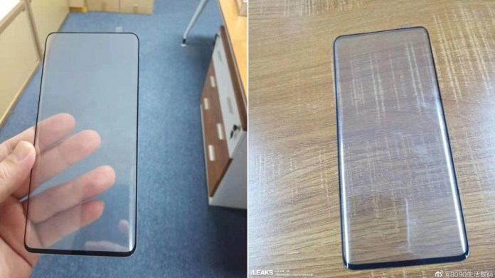 Xiaomi Mi Mix 4: Screen image shows us super thin margins and curved screen