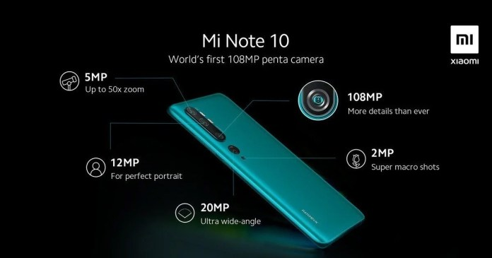 Xiaomi Mi Note 10 has details of the 5 cameras revealed and they are impressive!