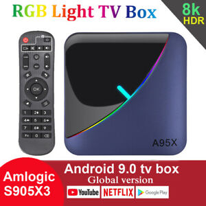A95X F3 Air Smart TV Box Android 9.0 Amlogic S905X3 Quad Core Max 4GB 64GB WiFi