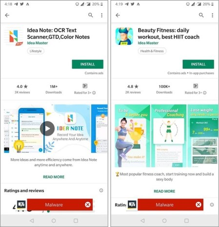 Affected apps on your smartphone in the Google Play store