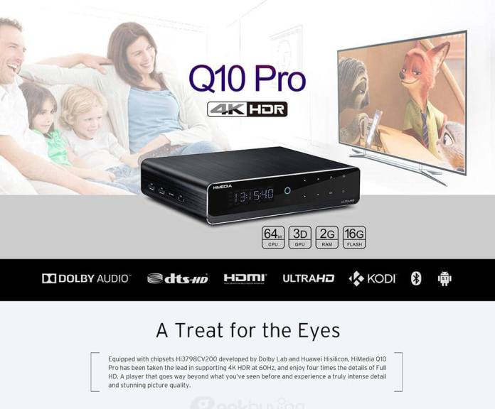 Himedia Q10 Pro Hi3798CV200 4K HDR 2G/16G TV BOX 802.11AC WIFI 1000M LAN Dolby DTS-HD 3.5