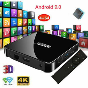MECOOL KM3 Smart Android 9.0 TV Box 4GB+64GB Amlogic S905X2 4K Media Player U9T8