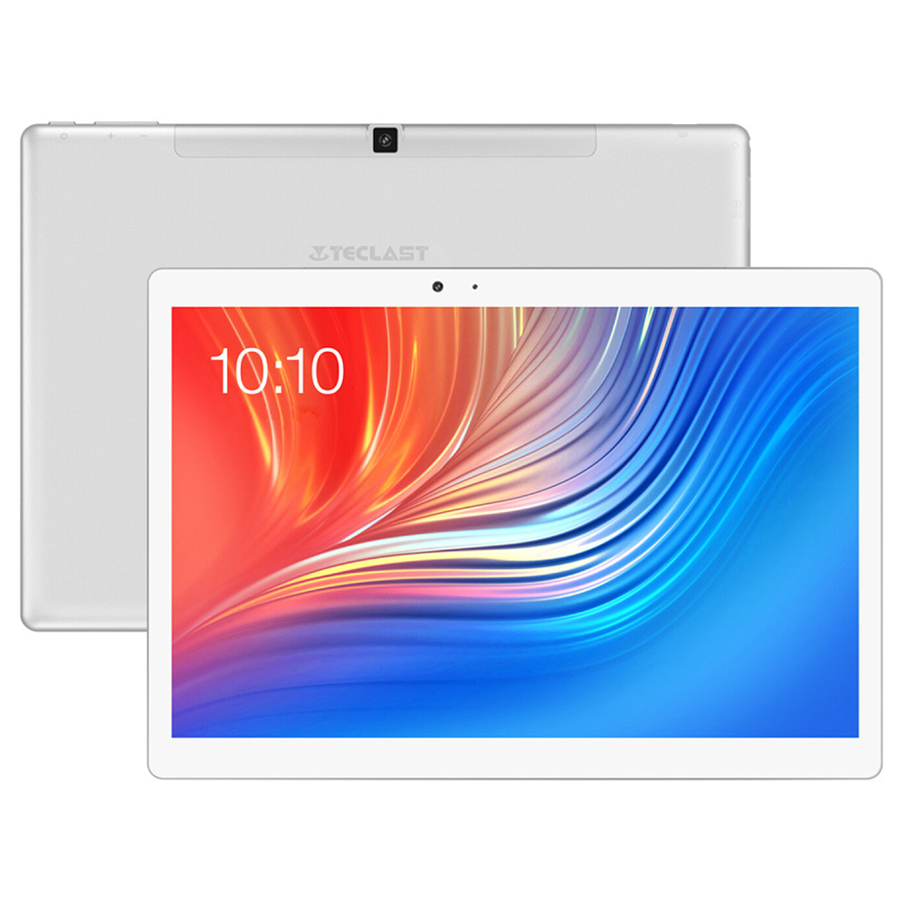 "Teclast T20 4G Phablet Helio X27 MT6797T Deca Core 10.1"" IPS Screen 2560*1600 Android 7.0 4GB RAM 64GB ROM Touch ID Built-in GPS GLONASS Beidou - White Silver"