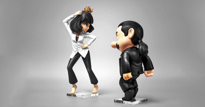 Super Fiction is the perfect mix of Mario and Pulp Fiction made doll