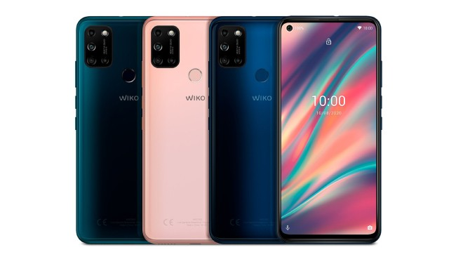 Wiko View5 mobile phone in various colors